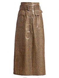 Nanushka - Aarohi Snake Vinyl Midi Skirt at Saks Fifth Avenue