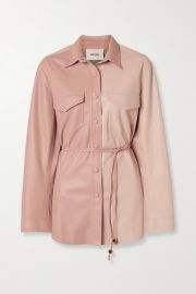 Nanushka - Eddy belted two-tone vegan leather shirt at Net A Porter