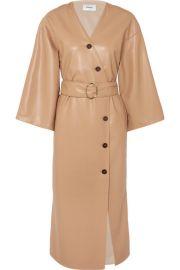 Nanushka - Iben belted vegan leather dress at Net A Porter