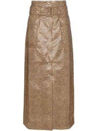 Nanushka Aarohi snake-effect Midi Skirt - Farfetch at Farfetch