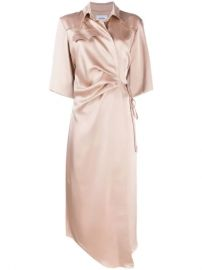 Nanushka Lais Draped Front Satin Dress - Farfetch at Farfetch