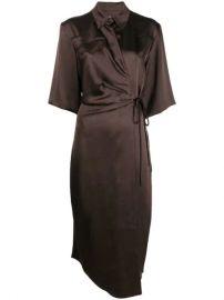 Nanushka Lais Wrap Dress - Farfetch at Farfetch
