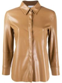 Nanushka Leather Effect Shirt - Farfetch at Farfetch
