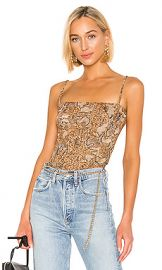 Nanushka Matea Tank in Brown Snake from Revolve com at Revolve