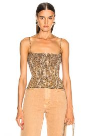Nanushka Matea Top in Brown Snake   FWRD at Forward