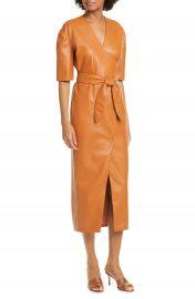 Nanushka Penelope Faux Leather Wrap Dress   Nordstrom at Nordstrom