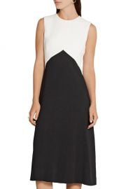 Narciso Rodriguez Two-Tone Textured Crepe Dress  at The Outnet