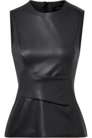 Narciso Rodriguez - Gathered leather top at Net A Porter
