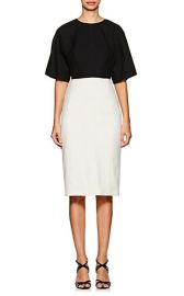 Narciso Rodriguez Colorblocked Wool Midi-Dress at Barneys