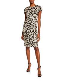 Nat Embellished Short-Sleeve Dress at Bergdorf Goodman
