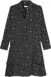 Natalia tiered printed washed-silk mini dress at The Outnet