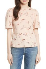 Natalie Fleur Cotton Jersey Top by Rebecca Taylor at Nordstrom Rack