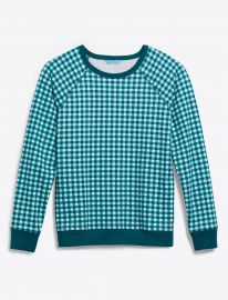 Natalie Sweatshirt in Gingham by Draper James at Draper James