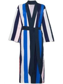 Natasha Zinko Striped Midi Robe - Farfetch at Farfetch