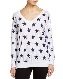 Nation LTD Stars Raglan V-Neck Sweatshirt x at Bloomingdales