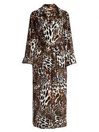 Natori - Chestnut Leopard Print Plush Robe at Saks Fifth Avenue