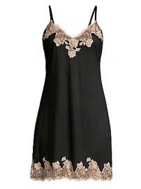 Natori - Josie Natori Charlize Lace Embroidered Chemise at Saks Fifth Avenue