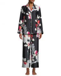 Natori Cattleya Floral-Print Classic Pajama Set at Neiman Marcus