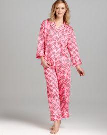 Natori Ming Notch Collar Pajama Set at Bloomingdales