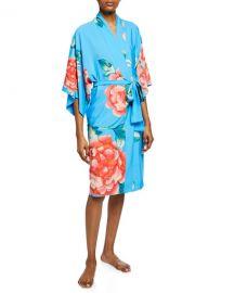 Natori Nova Floral-Print Robe at Neiman Marcus