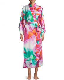 Natori Paraiso Long Kimono Robe at Neiman Marcus