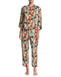 Natori Two-Piece Dynasty Printed Pajamas at Neiman Marcus