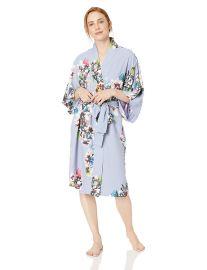 Natori Women s Printed Charmeuse Robe at Amazon