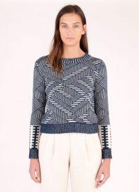 Natural Indigo Sweater at Billy Reid