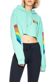 Natural Rainbow Cropped Hoodie by Free and Easy at Garmentory