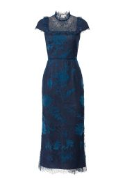 Navy Lace Bib Dress  Marchesa Notte at Rent The Runway