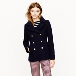 Navy Majesty pea coat at J Crew at J. Crew