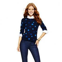 Navy and blue polka dot sweater at C Wonder