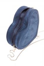 Navy blue heart shaped bag at Boohoo