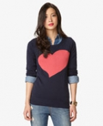 Navy heart sweater at Forever 21 at Forever 21