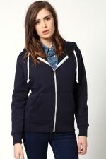 Navy hoodie from Boohoo at Boohoo
