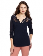Navy lace blouse by Lucky Brand at Amazon
