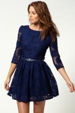 Navy lace dress like Pennys at Boohoo