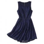 Navy lace open back dress by Xhilaration at Target