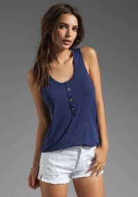 Navy slub tank by LA Made at Revolve