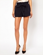 Navy tailored shorts like Paiges at Asos