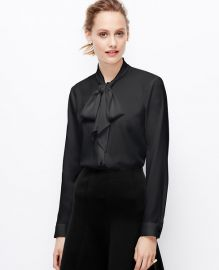 Neck tie blouse at Ann Taylor