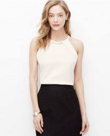Necklace Halter top at Ann Taylor