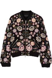 Needle   Thread   Embellished chiffon bomber jacket at Net A Porter