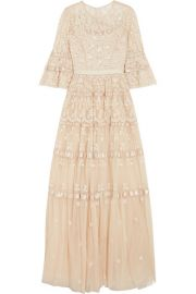 Needle   Thread - Roses embellished satin-trimmed tulle gown at Net A Porter
