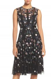 Needle   Thread Embellished Tulle Fit   Flare Dress at Nordstrom