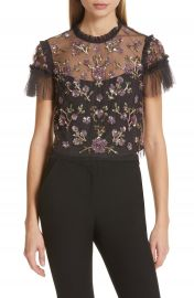 Needle  amp  Thread Carnation Sequin Top   Nordstrom at Nordstrom