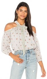 Needle  amp  Thread Victorian Ditsy Top in Ash Blue from Revolve com at Revolve