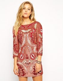 Needle and Thread  Needle and Thread Embellished Tapestry Motif Dress at Asos