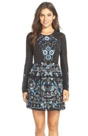 Needle and Thread Embellished Georgette Fit and Flare Dress at Nordstrom