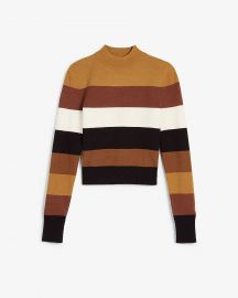 Negin Mirsalehi Striped Mock Neck Sweater at Express